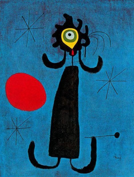 Miró - Mujer Ante El Sol, 1950