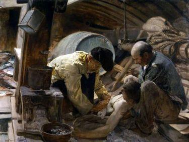 Joaquín Sorolla y Bastida, ¡Aún dicen que el pescado es caro!, 1894, Óleo sobre lienzo. 151,5 x 204 cm. Museo del Prado, Madrid.