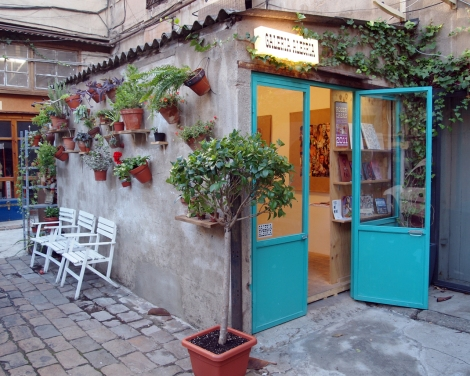 La acogedora ubicación de la Galería Alegría en Barcelona