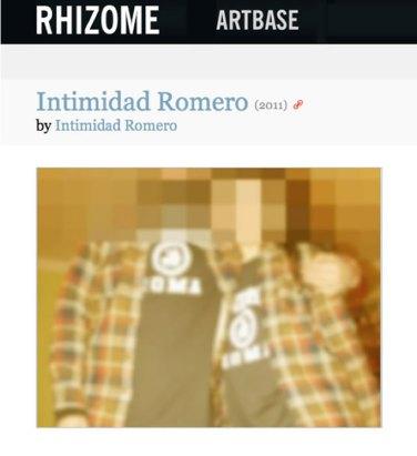 Intimidad Romero - Rhizome profile