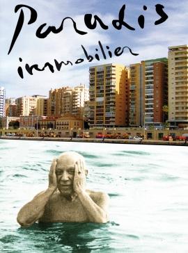 Paradis Inmobilier, 2011. Óleo sobre fotografía de Rogelio López Cuenca