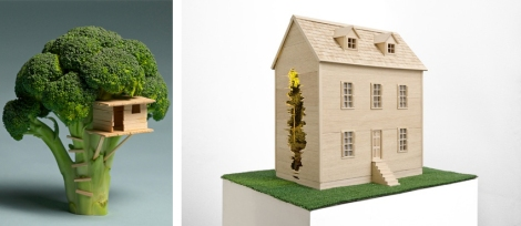 """Brock Davis, """"Brocoli House"""" (2011) · Andrea Canepa """"To live as if it was possible to recover certainity"""" (2012)"""