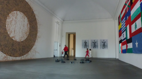 Richard Long, Ai WeiWei, Peter Friedl, Lothar Baumgarten, Oltre il muro, 2013. Castello di Rivoli. Foto: Camilayelarte