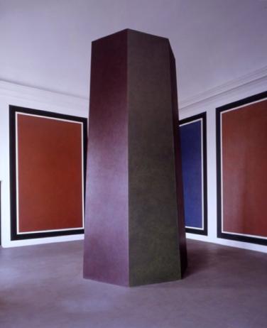 Sol LeWitt, Panels and Tower with Colours and Scribbles,Oltre il muro, 2013. Castello di Rivoli. Foto: via Castello di Rivoli