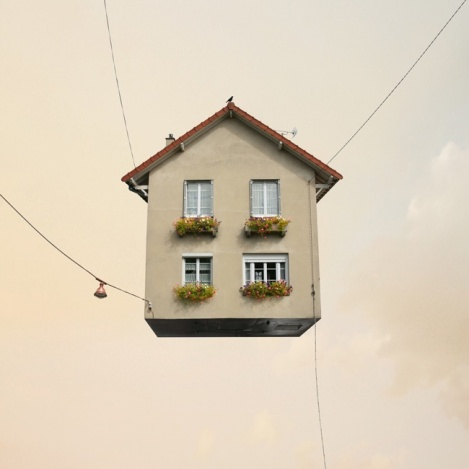 """Laurent Chehere, """"Flying Houses"""" (2012)"""