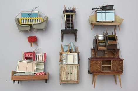 """Sabine Timm, """"Collection of piles"""" (2011)"""