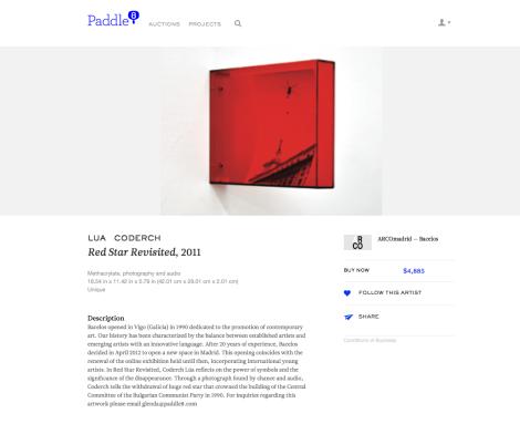 Lua Coderch, Red Star Revisited, 2011. Galería Bacelos. Foto: Camilayelarte vía Paddle8