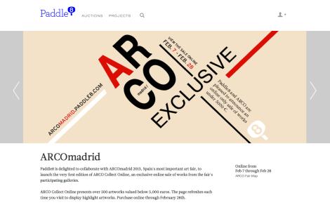 ARCO Madrid - Paddle8. Foto: Camilayelarte vía Paddle8
