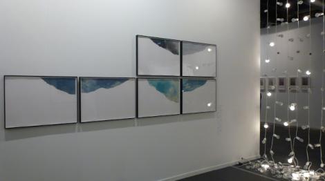 Ignasi Aballí, Cielos Rotos, Galería Elba Benítez (Madrid). ARCOmadrid 2013. Foto: Camilayelarte