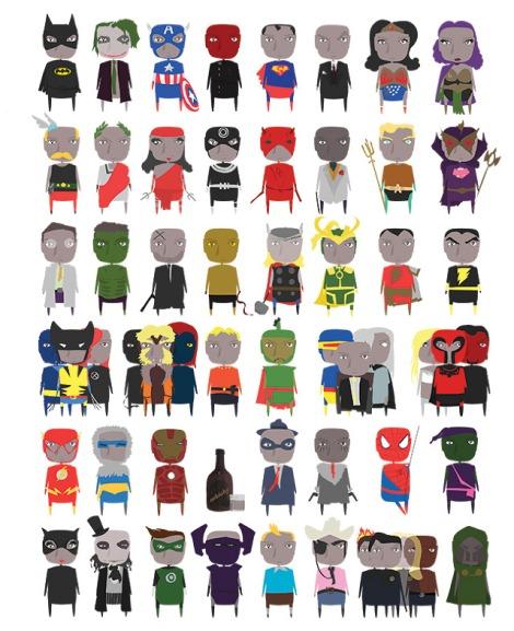 heroes y villanos