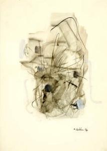 La madre del velo [Die Mutter vom Schleier] (1994). Técnica mixta sobre papel, 42 x 29,7 cm.